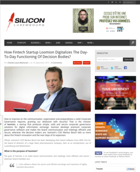 [Translate to Portugiesisch:] Featured article about loomion in the Fintech industry